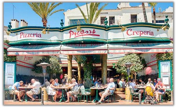 restaurante italiano picasso puerto baños costa del sol marbella